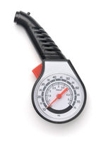 Top view of tire pressure gauge