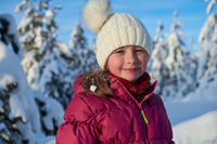 cute little girl on beautiful winter day