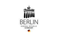 Vector icon Branderburg Gate in Berlin in Germany