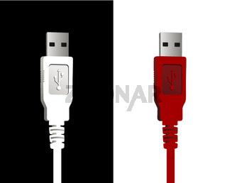 USB wires couple