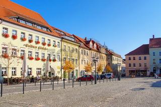 Marktplatz in Kamenz , Sachsen, Deutschland - town square in the town Kamenz, Saxony in Germany