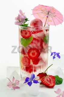 Fresh strawberry lemonade.