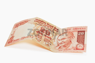 Indische 20 Rupien Banknote | Indian 20 rupees bill