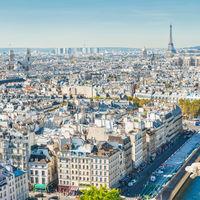 Paris cityscape with Eilffel tower