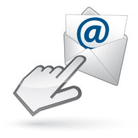 Left-handed cursor on e-mail