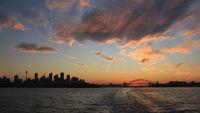 Colorful evening sky over Sydney.