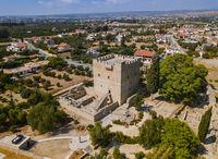 Kolossi castle - Limassol Cyprus - aerial view