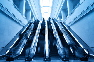 escalator in modern station building