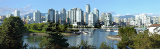Vancouver BC skyline at False creek.