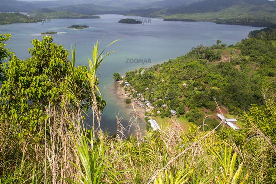 Small village on Marovo Island, Solomon Islands