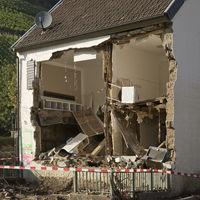 Destroyed house, flood disaster 2021, Ahr Valley, Dernau, Rhineland-Palatinate, Germany, Europe