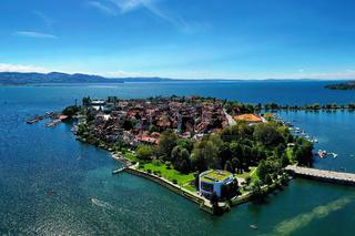 Luftbild von Lindau bei schönem Wetter