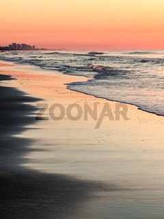 beautiful sunrise at myrtle beach in south carolina atlantic ocean