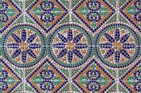 Ancient mosaic colorful patterns