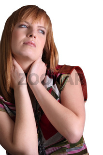 a seductive red head woman