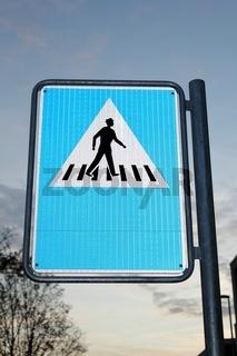 Verkehrsschild Fussgängerüberweg