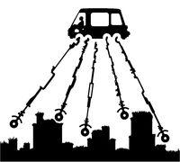 Car Long Wheel Drive Cartoon