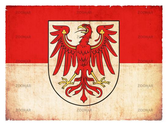 Grunge flag of Brandenburg (Germany)