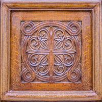 Wooden Ornament Door Detail