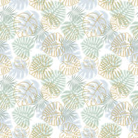 Foral decoration with palm leaves