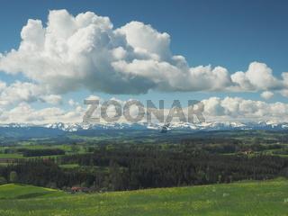 Aussichtspunkt 'Siggener Höhe' im Landkreis Ravensburg, Allgäu