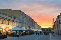 People Old Town street Kiev