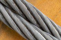 Wire rope closeup