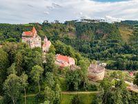 historical medieval castle Pernstejn, Czech Republic