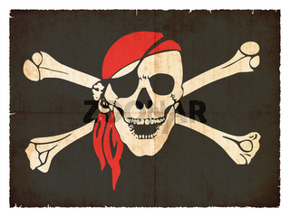 Grunge flag of pirates