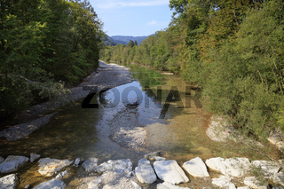 Fluss Weissach, Oberbayern, Bayern, Deutschland, Europa