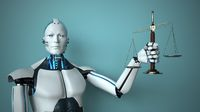 Humanoid robot in the role of a judge