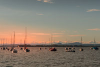 Sailing boats on Lake Constance, Allensbach, Baden-Wuerttemberg, Germany