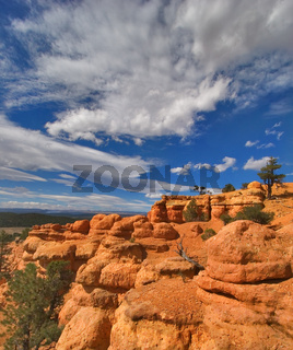 Clouds on a red canyon