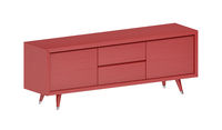 Wooden red tv stand