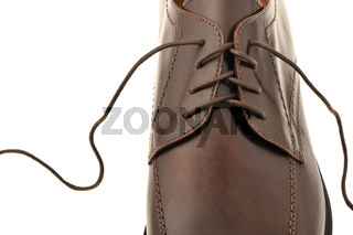 Man's shoes from a brown leather