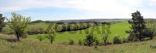 Panorama, gesehen vom Kleinen Rummelsberg bei Brodowin in der südlichen Uckermark