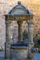 Historic drinking water fountain on Veste Coburg
