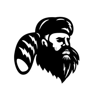 American Mountain Man Frontiersman Explorer or Trapper Looking to Side Mascot
