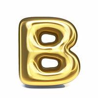 Golden font Letter B 3D