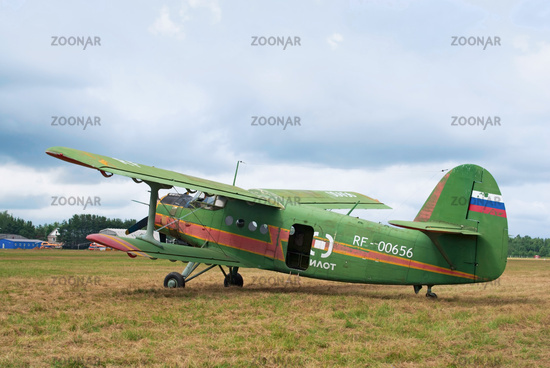 An-2 stands in the field