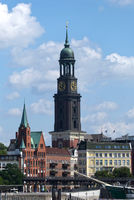 Hamburg, St. Michaelis, Michel, Elbpormenade, Germany