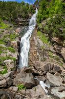 At Barbiano waterfall, South Tyrol
