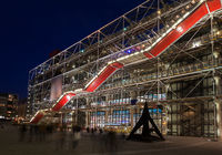The Pompidou Centre, Paris, at night