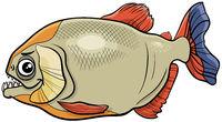 cartoon piranha fish animal character