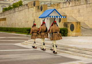 Honor Guard at the Athenian Grave of an Unknown Soldier