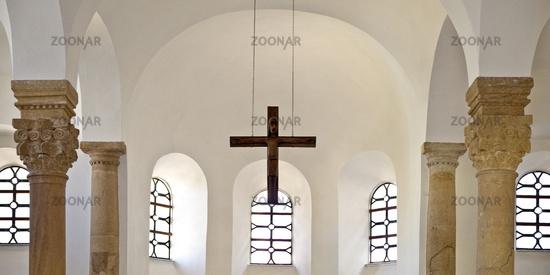 Bartholomaeus chapel, oldest hall church north of the Alps, Paderborn, Germany, Europe