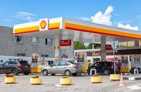 Shell V-power fuel station