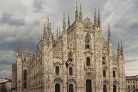 Milan Duomo with dramatic sky