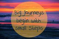 Sunset Or Sunrise At Sweden Ocean, Big Journeys Begin With Small Steps