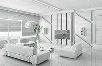 Modern white living room interior 3d